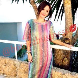 ZARA Rainbow Sequin Dress